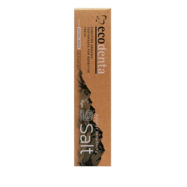 Pasta de dinti pentru dinti si gingii sensibile cu sare naturala Cosmos Organic Ecodenta 100ml 2