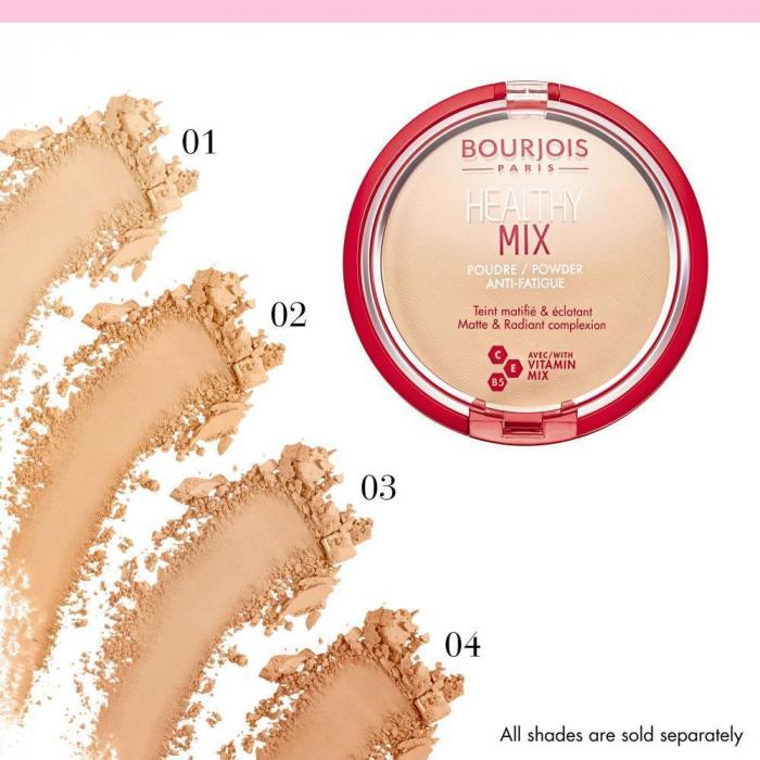 Pudra compacta Bourjois Healthy Mix, No 004 Light Bronze, 11 g [1]