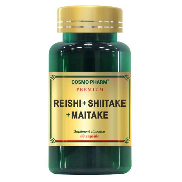Reishi Shiitake Maitake, Cosmo Pharm, 60 capsule 0