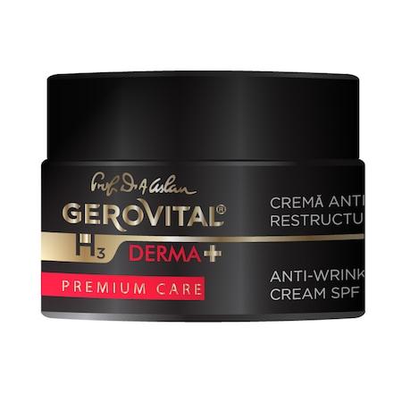 Crema antirid restructuranta H3 Derma+ Premium Care, cu SPF10, 50 ml [0]