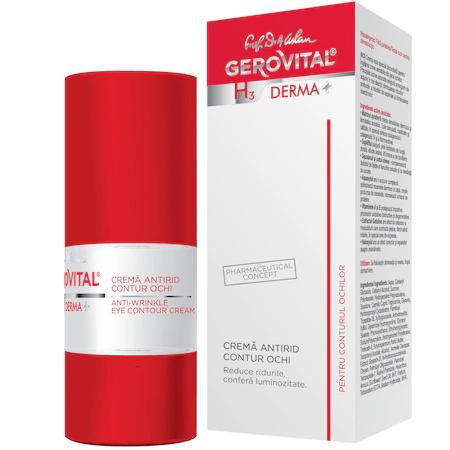 Crema antirid contur ochi H3 Derma+, 15 ml [0]