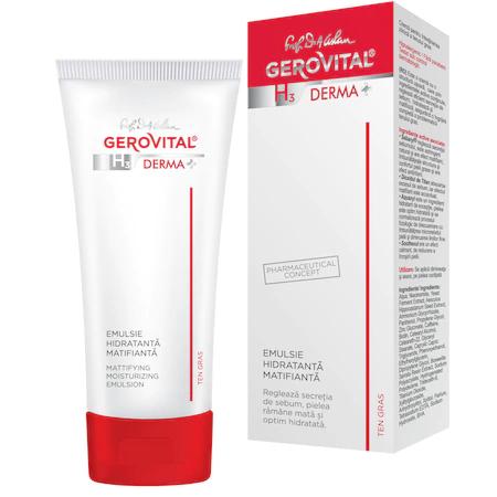 Emulsie hidratanta matifianta H3 Derma+, 50 ml 0
