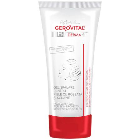 Gel spalare piele cu roseata si scuame Gerovital H3 Derma+, 150 ml 0