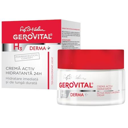 Crema activ hidratanta 24h Gerovital H3 Derma+, 50 ml 0