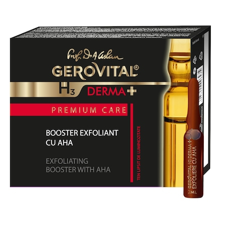 Fiole Booster Exfoliant Gerovital H3 Derma+ Premium Care cu AHA 4 buc x 2 ml [0]