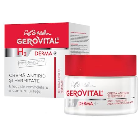 Crema antirid si fermitate Gerovital H3 Derma+, 50 ml 0