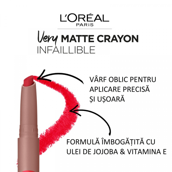 Ruj creion Infaillible Les Caramels ruj creion, 103 Mapple Dream, 2.5g [6]