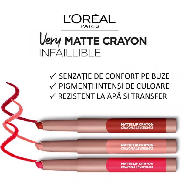 Ruj creion Infaillible Les Caramels 105 Sweet & Salty, 2.5g [5]