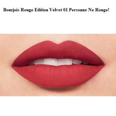 Ruj de buze cu efect matifiant Bourjois Rouge Edition Velvet No.01 Personne Ne Rouge!, 7.7ml [2]