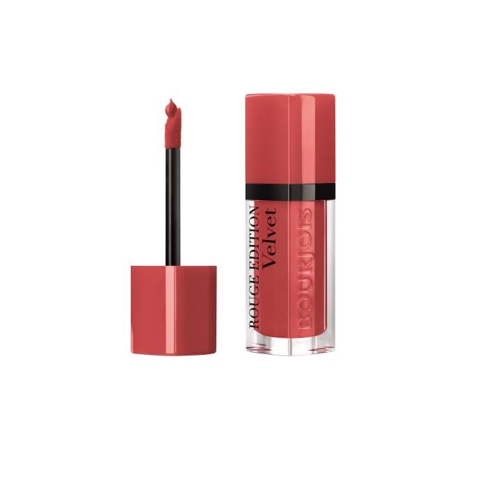 Ruj de buze cu efect matifiant Bourjois Rouge Edition Velvet No.04 Peach Club, 7.7ml [1]