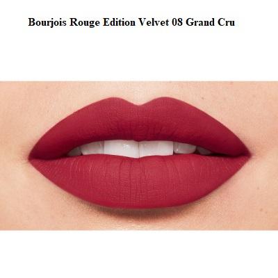 Ruj de buze cu efect matifiant Bourjois Rouge Edition Velvet No.08 Grand Cru, 7.7ml [2]
