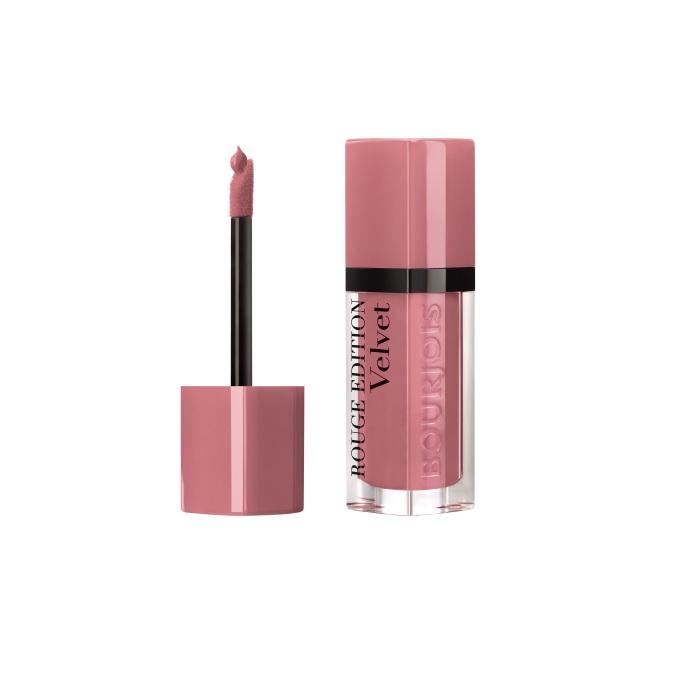 Ruj de buze cu efect matifiant Bourjois Rouge Edition Velvet No.09 Happy Nude Year, 7.7ml [1]