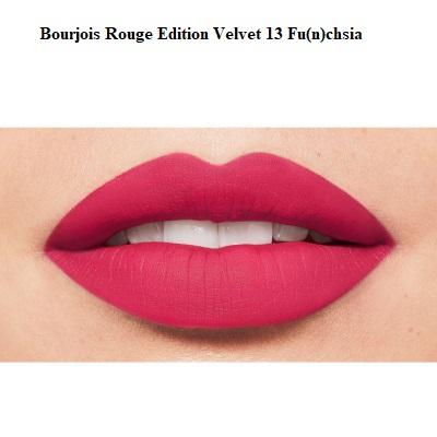 Ruj de buze cu efect matifiant Bourjois Rouge Edition Velvet No.13 Fun(n)chsia, 7.7ml [2]