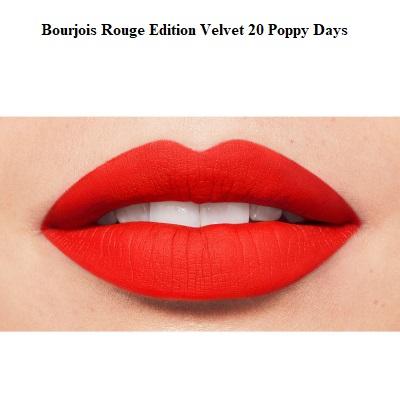 Ruj de buze cu efect matifiant Bourjois Rouge Edition Velvet No.20 Poppy Days, 7.7ml [2]
