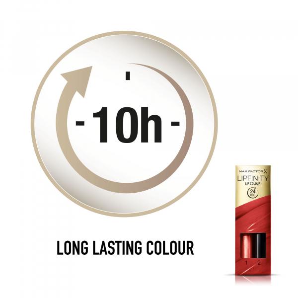 Ruj de buze rezistent la transfer Max Factor Lipfinity, 120 Hot 3