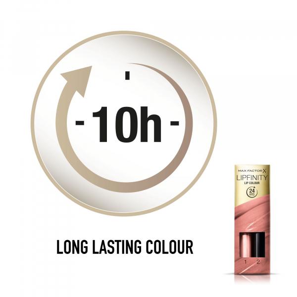 Ruj de buze rezistent la transfer Max Factor Lipfinity, 160 Iced, 42 g 4