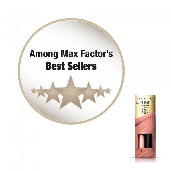 Ruj de buze rezistent la transfer Max Factor Lipfinity, 160 Iced, 42 g 5