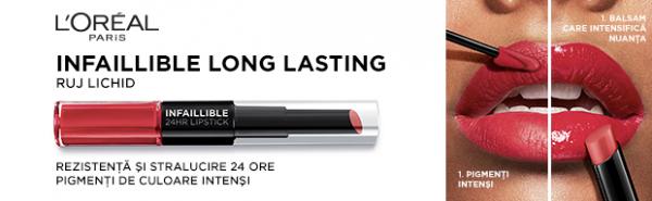Ruj lichid rezistent la transfer L'Oreal Paris Infaillible Long Lasting - 5.6ml [8]