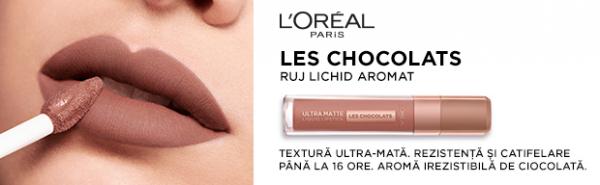 Ruj lichid mat L'Oreal Paris Ultra Matte Les Chocolats 842 Candy Man - 7.6 ml [3]