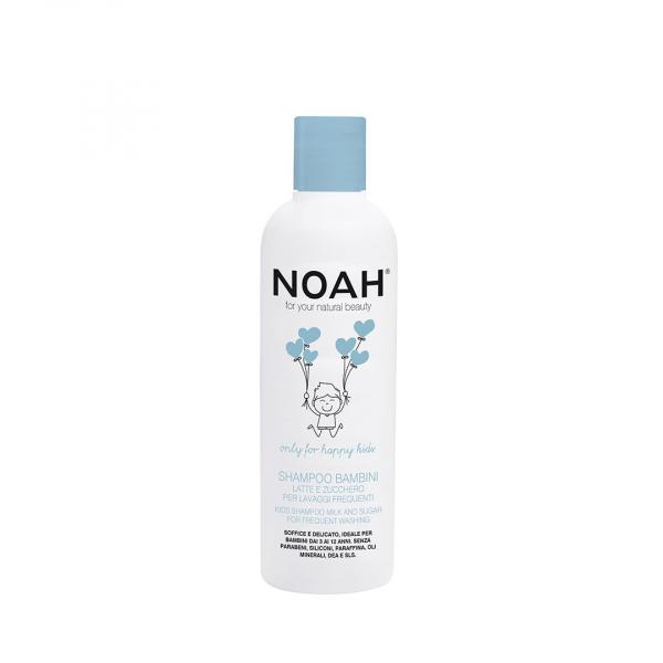 Sampon cu lapte & zahar pentru spalare frecventa pentru copii Noah 250 ml 0