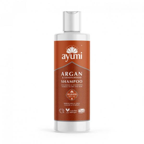 Sampon cu Ulei de Argan & Lemn de Santal pentru parul fragil si subtire Ayumi 250 ml 0
