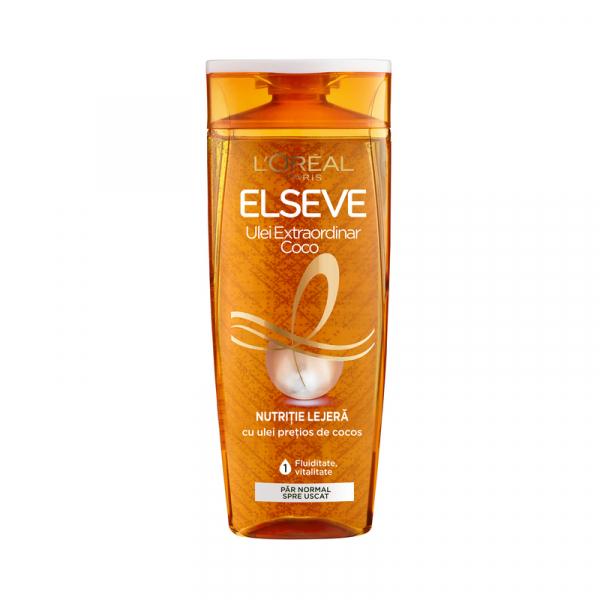 Sampon pentru par normal spre uscat, Elseve Ulei Extraordinar cu Ulei de Cocos, 400 ml 0