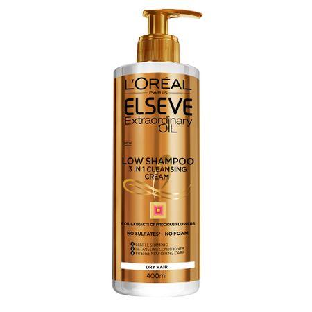 Sampon pentru par uscat, Elseve Low Shampoo Ulei Extraordinar, 400ml 0