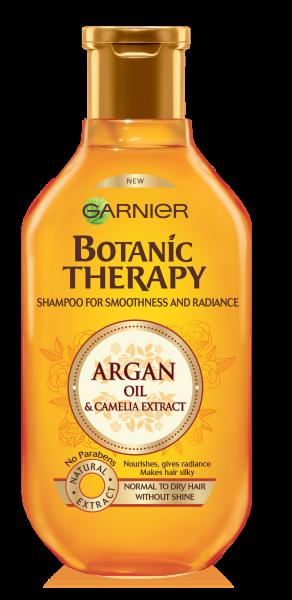 Sampon Garnier Botanic Therapy Ulei de argan si extract de camelie, pentru par normal spre uscat tern 250 ml 0