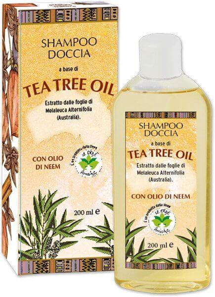 Sampon gel de dus hidratant cu ulei din arbore de ceai si ulei de neem La Dispensa 200 ml [1]