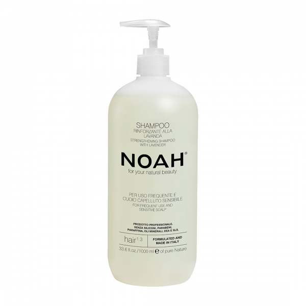 Sampon natural fortifiant cu lavanda pentru uz frecvent si scalp sensibil Noah 1000 ml 0