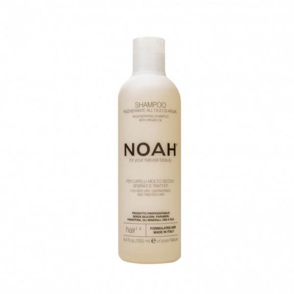 Sampon natural regenerant cu ulei de argan pentru par foarte uscat si tratat (1.4) Noah 250 ml 0
