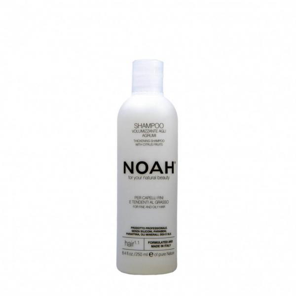 Sampon natural volumizant cu citrice pentru par fin si gras (1.1) Noah 250 ml 0