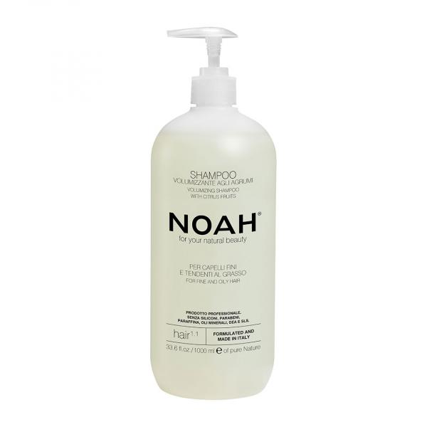 Sampon natural volumizant cu citrice pentru par fin si gras Noah 1000 ml 0