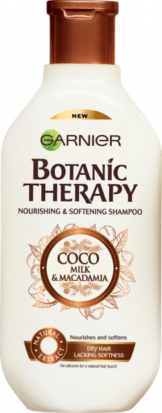 Sampon pentru par uscat lipsit de suplete Garnier Botanic Therapy COCO MILK & MACADAMIA 400 ML 0