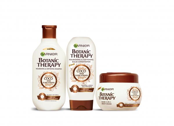 Rutina pentru par uscat lipsit de suplete Garnier Botanic Therapy COCO MILK & MACADAMIA 0