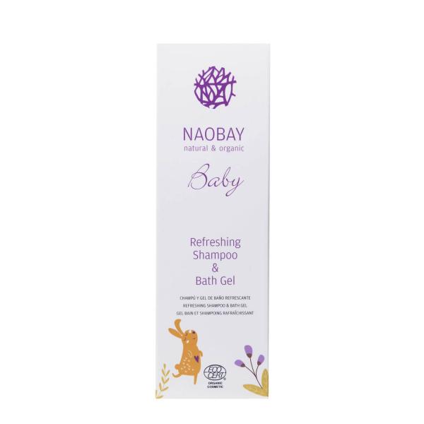 Sampon si gel de dus BIO hidratant cu extract de galbenele organic pentru copii Naobay 200 ml 2
