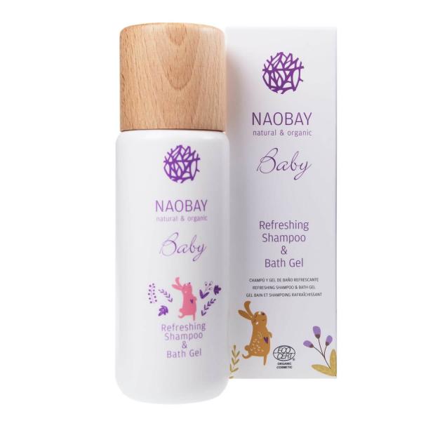 Sampon si gel de dus BIO hidratant cu extract de galbenele organic pentru copii Naobay 200 ml 1