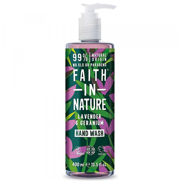 Sapun lichid natural cu lavanda si muscata, Faith in Nature, 400 ml 0