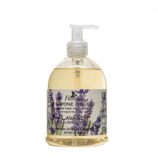 Sapun lichid vegetal hidratant cu lavanda si ulei de Jojoba Florinda 500 ml La Dispensa 0