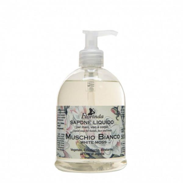 Sapun lichid vegetal hidratant cu mosc alb si ulei de Jojoba Florinda 500 ml La Dispensa [0]