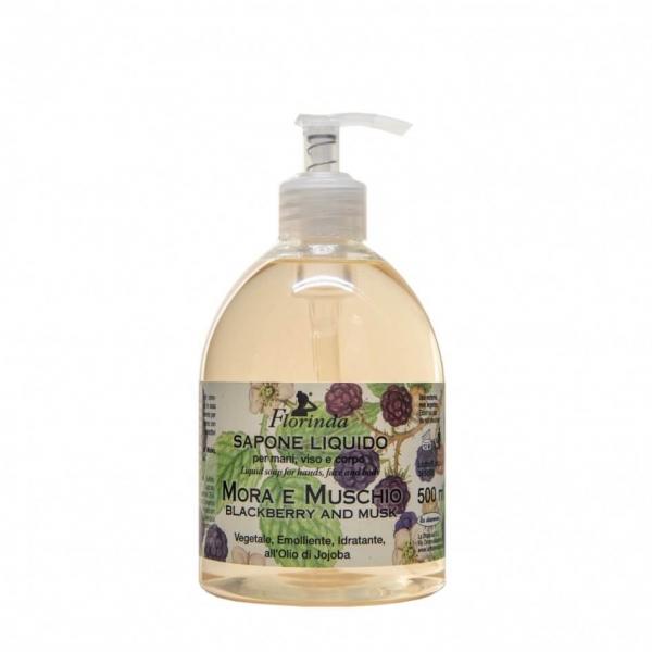 Sapun lichid vegetal hidratant cu mure si mosc si ulei de Jojoba Florinda 500 ml La Dispensa 0