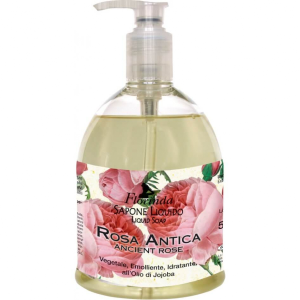 Sapun lichid vegetal hidratant cu Rosa Antica si ulei de Jojoba Florinda 500 ml La Dispensa [0]
