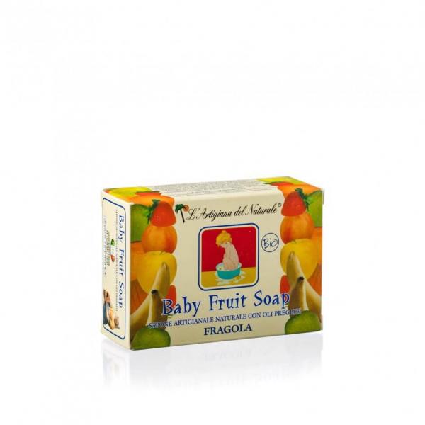 Sapun natural Strawberry pentru copii 100 g Laboratorio Naturale 0