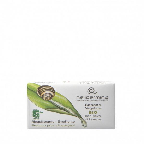 Sapun vegetal cu extract de melc Helidermina 100 g La Dispensa 0