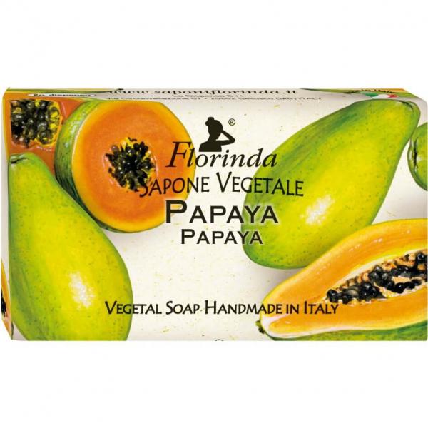 Sapun vegetal cu papaya Florinda 100 g La Dispensa 0