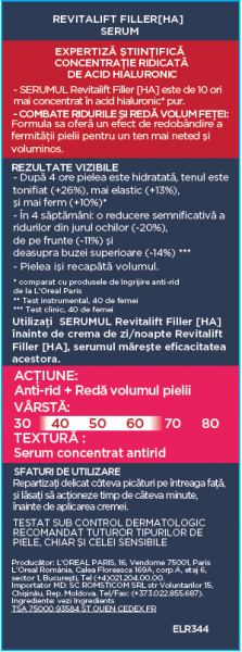 Serum antirid L`Oreal Paris Revitalift Filler 4