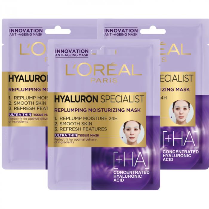 Set 3x Masca servetel hidratanta Hyaluron Specialist cu efect antirid [0]