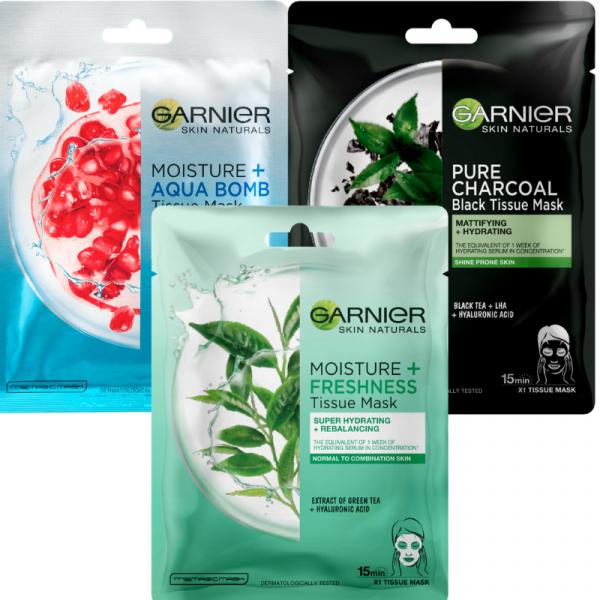 Set 5x Masca Garnier Skin Naturals MIXT rodie, musetel, ceai negru, ceai verde [0]