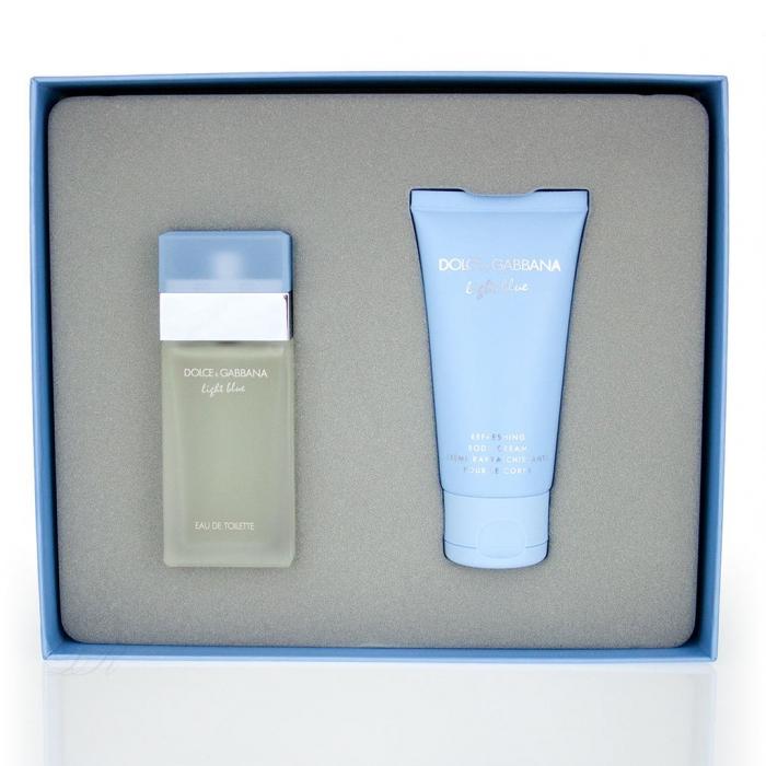 Set CADOU Light Blue, femei: apa de toaleta 25 ml + Crema de corp 50 ml [1]