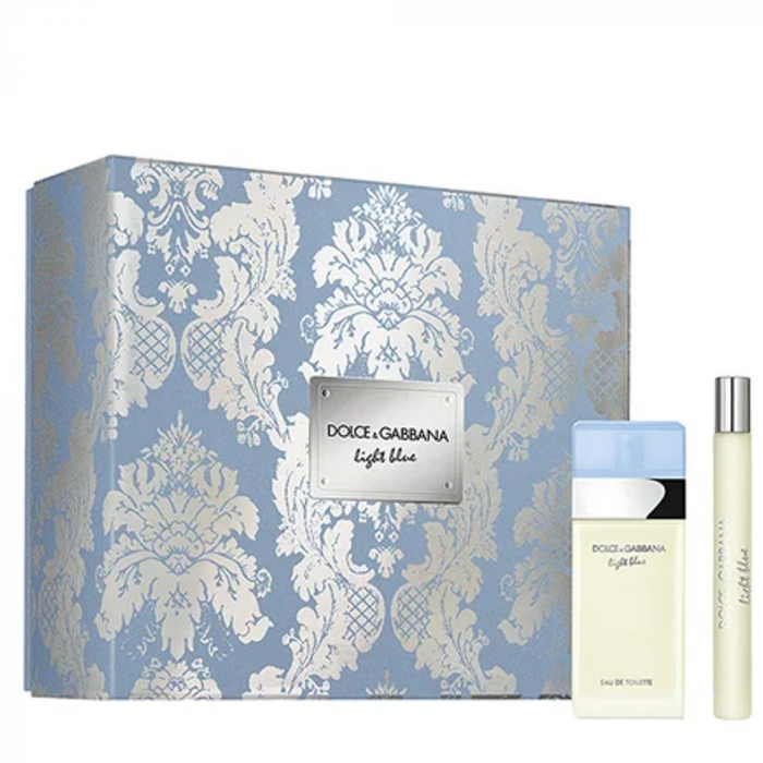 Set CADOU Light Blue, femei: apa de toaleta 25 ml + Travel spray 10 ml [0]